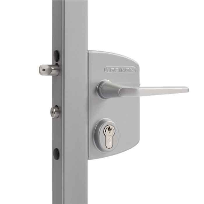 Industrial Security Locks for Swing Gates, Silver, Mfg Locinox