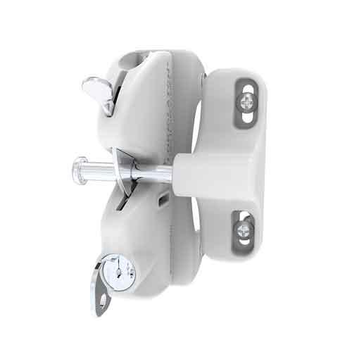 Lokk-Latch Key-Lockable General Purpose Latch w/External Access Kit, White