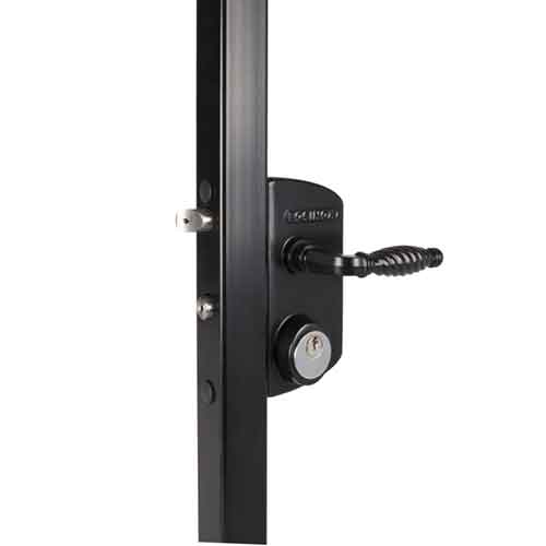 USA Lock w/Schlage Cylinder- Fits 1-1/4'' Tubing, supplied Black