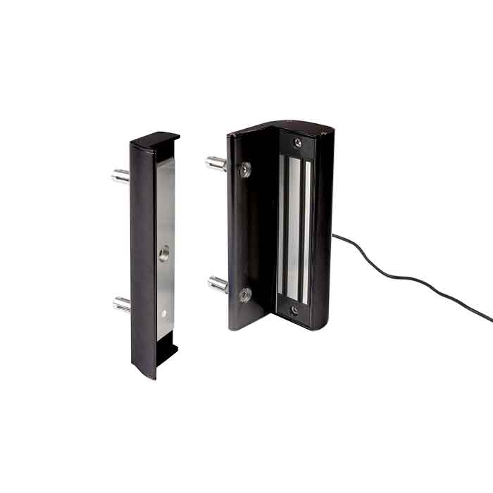 Electro Magnetic Lock without Handle, 660 lbs. pulling force, Black