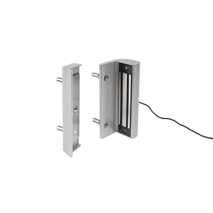 Electro Magnetic Lock without Handle, 660 lbs. pulling force, Silver