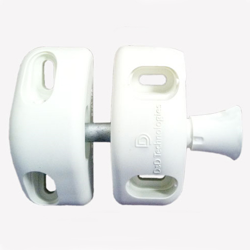 Magna-Latch Side Pull Magnetic Latch for Residential Gates, White