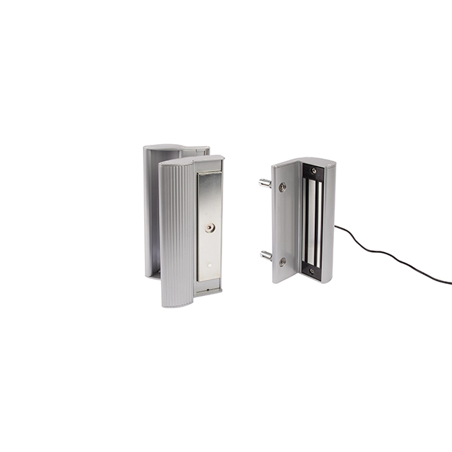 Electro Magnetic Lock with Handle, 600 lbs. pulling force, Silver