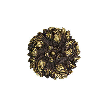 """2-1/4"""" dia. Cast Bronze Flower Rosette"""