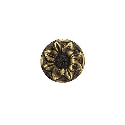 """1-1/2"""" dia. Cast Bronze Flower Rosette"""