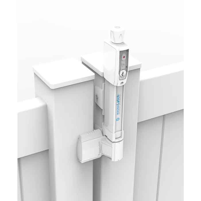 Magna-Latch Vertical Pull Series 3, Magnetic Child Safety Latch, White