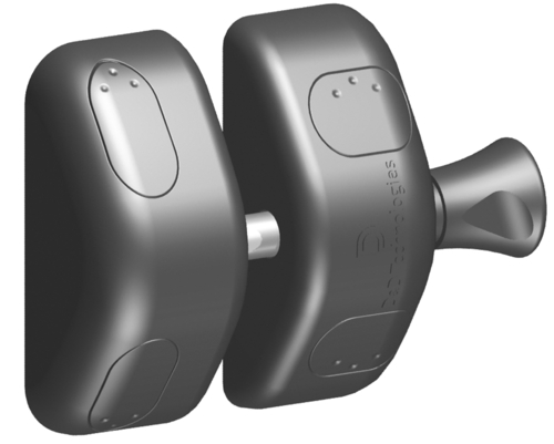 Magna-Latch Side Pull Magnetic Latch for Residential Gates, Black
