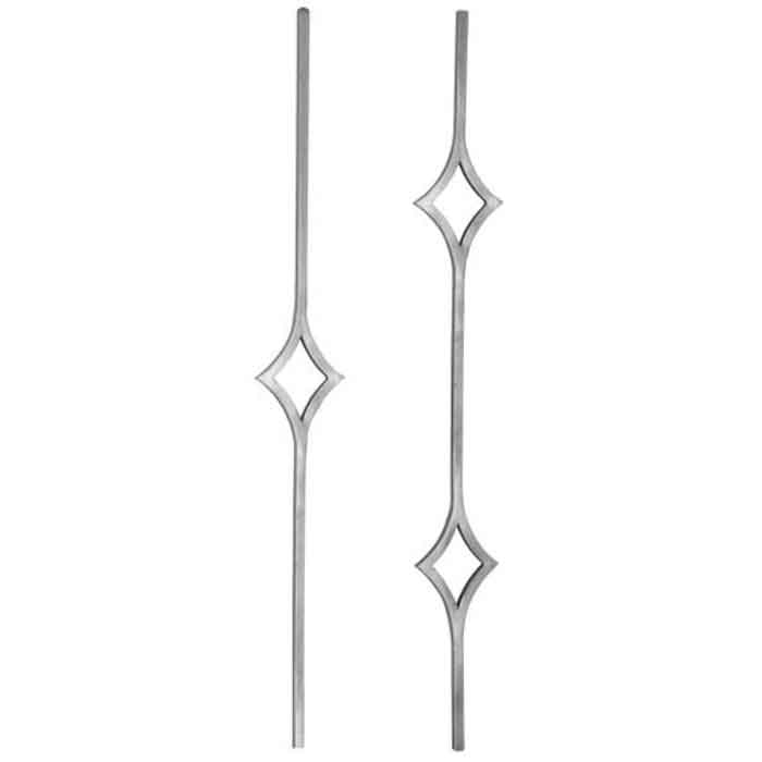 """9/16"""" Forged Steel Balusters with Diamond Shapes"""