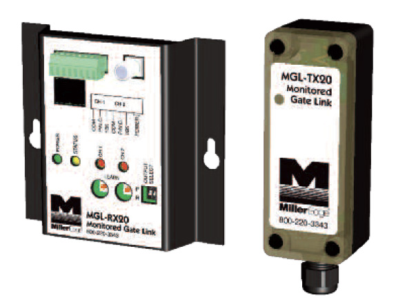 DISCONTINUED--Monitored Gate Link transmitter/receiver for Safety Sensing Edges