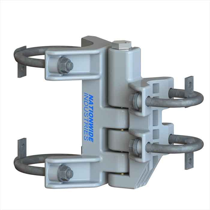 """Self-Closing CL Hinge, Grey, Industrial Fits 1-3/8 to 1-7/8 gate frame and 4""""  post / Sold individually"""