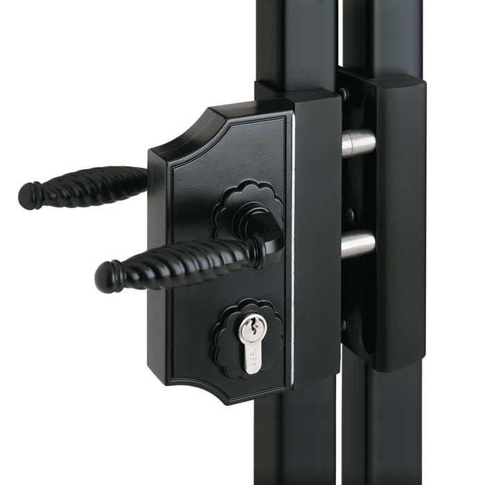 Offset Installation Bracket for Narrow Ornamental Lock