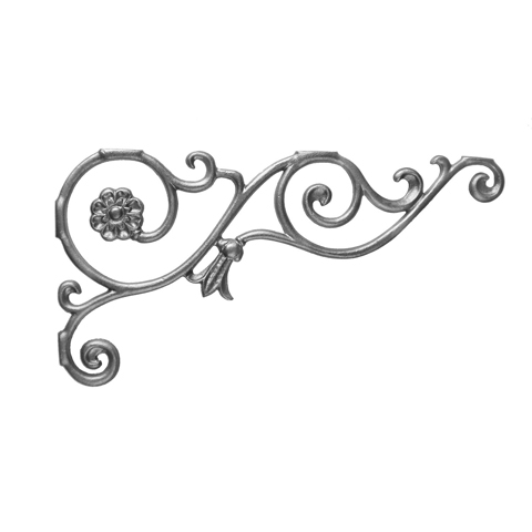 """9-1/2"""" Tall Cast Iron Bracket, Bell Flower Style, Double Faced"""