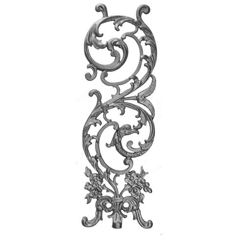 "25"" Tall Cast Iron Panel, Bird of Paradise Style, Double Faced"