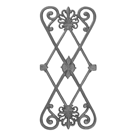 """22-1/2"""" Tall Cast Iron Panel, Contemporary Style, Double Faced"""