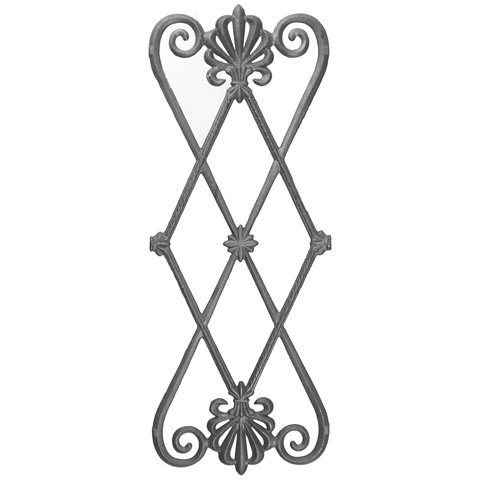 """26-1/4"""" Tall Cast Iron Panel, Contemporary Style, Double Faced"""