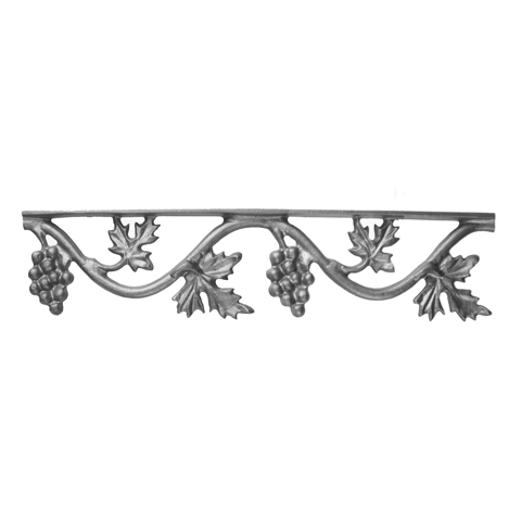 """17"""" Wide Cast Iron Valance, Vineyard Style, Double Faced"""