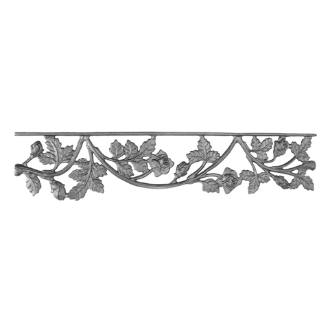 "26-1/4"" Wide Cast Iron Valance, Rose Style, Double Faced"