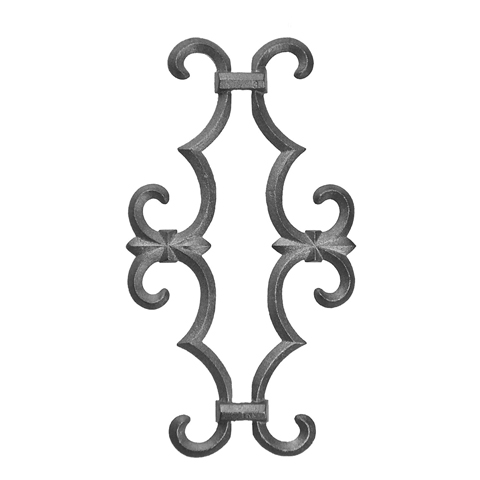 """Picket Casting for 1/2"""" sq., Cast Iron, 12-1/2"""" Tall"""
