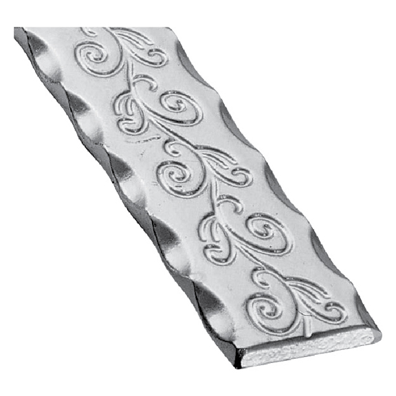 Patterned Flat Bar, End Scroll, Sweep and Corner Bend with Center Scroll Design