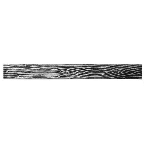 "Patterned Steel Flat Bar with Tree Bark Design, 9'10"" long"
