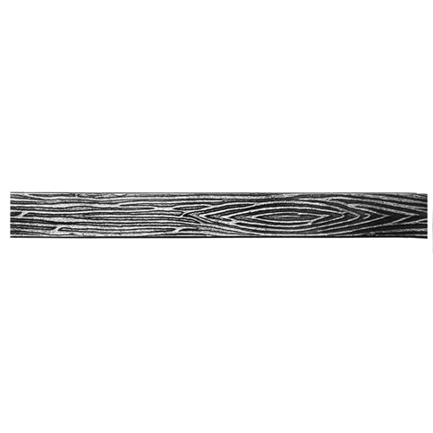 Patterned Flat Bar, End Scroll, Sweep and Corner Bend with Treebark Design