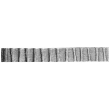 Patterned Flat Bar, End Scroll, Sweep and Corner Bend with Wavy Design