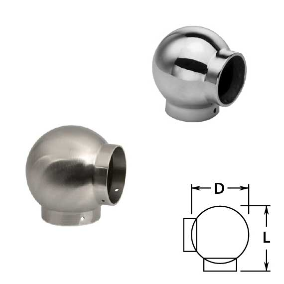 Ball Ell in Stainless Steel