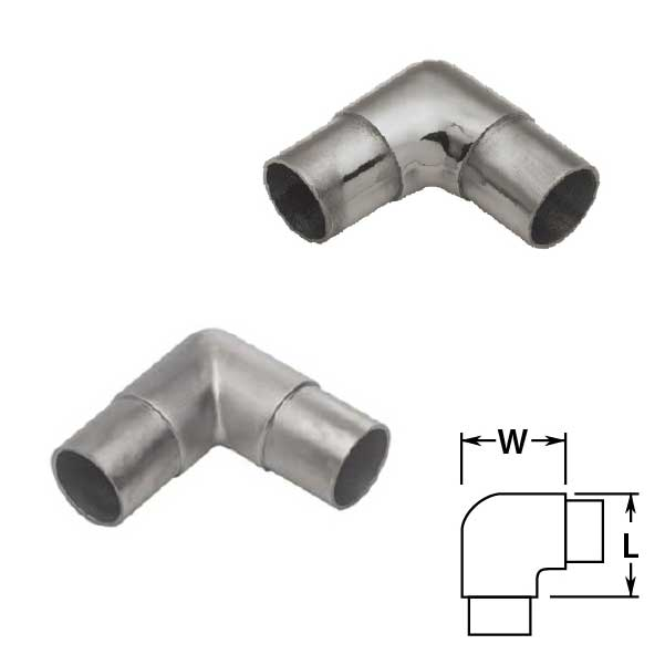 Flush Ells in Polished and Satin Stainless Steel