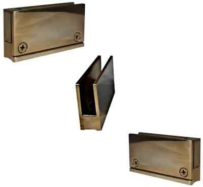 Polished Brass Glass Clips