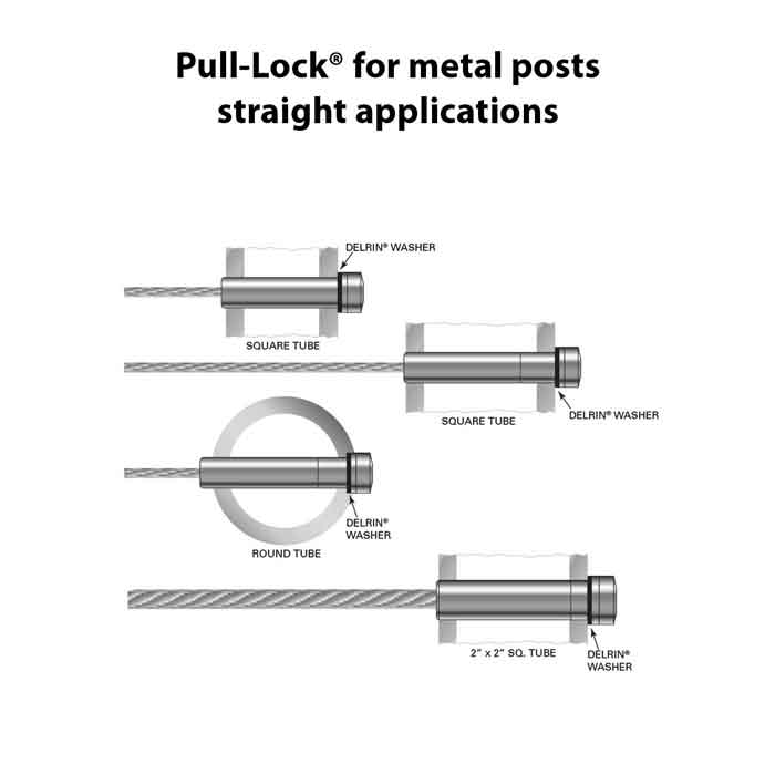 """Pull-Lock® fittings for 1/8"""" Cable"""