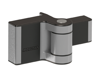 PUMA Adjustable Hinge, Surface Mounted, 180 degree Double Bearing, Gates up to 132 lbs., Silver, Sold Individually