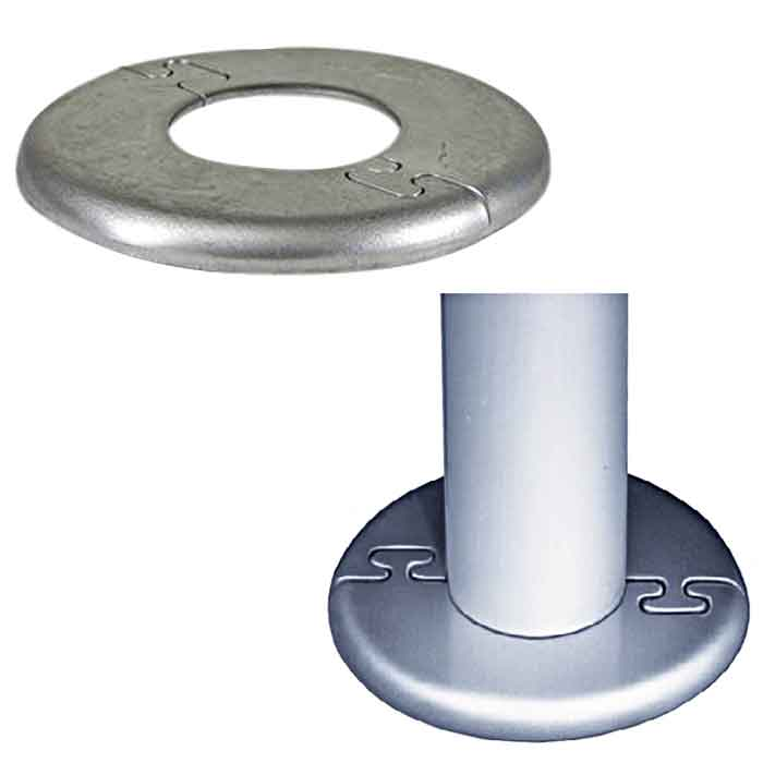 "Aluminum Puzzle-Lock Split Flanges for 1-1/4"" and 1-1/2"" Schedule 40 Pipe"