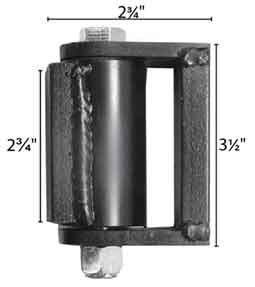 "3"" Roller Bearing Hinge with True Sealed Bearings-Capacity per pair 1400 lbs."