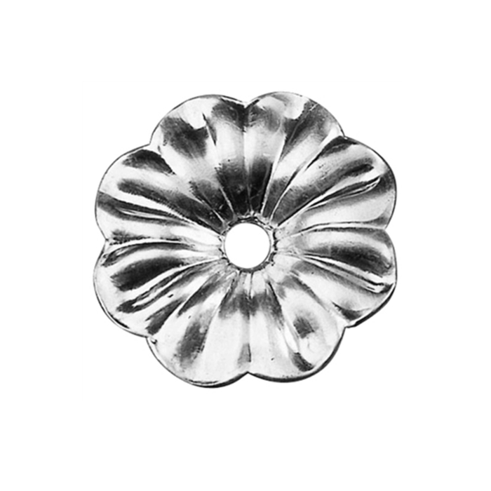 "3-3/4"" dia. Aluminum Flower Rosette with Center Hole"