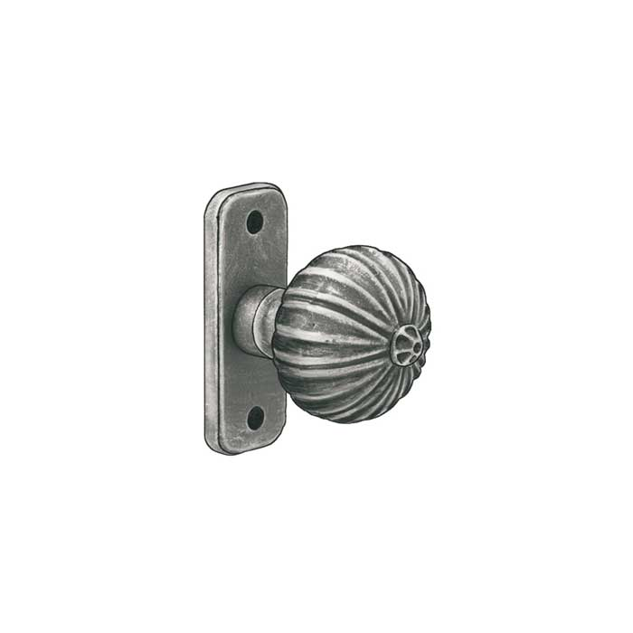 "2-5/16"" dia. Pull Knob, Steel, 3-1/2"" Tall Backplate, Zinc Coated"