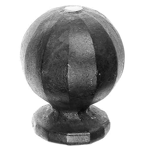 "Decorative Steel Ball Post Tops with 1"" dia., 1-1/2"" dia., and 2"" dia. Bases"