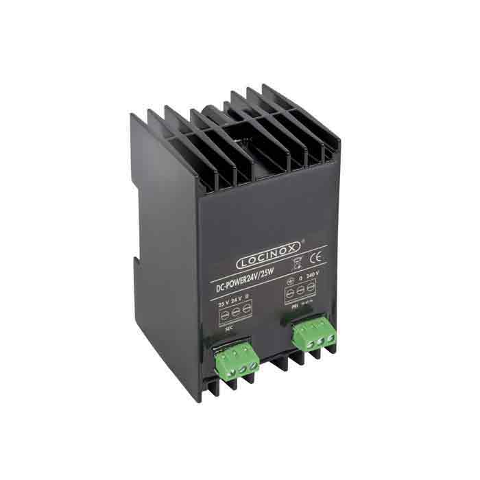 Safety DC power supply with 110V input voltage and 24V / 25 W output. Use with Powerboxes PB-1-ZILV or PB-1-9005