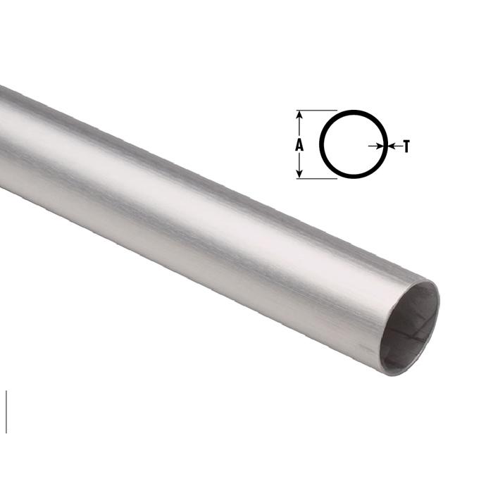 Satin Stainless Steel Round Tubing