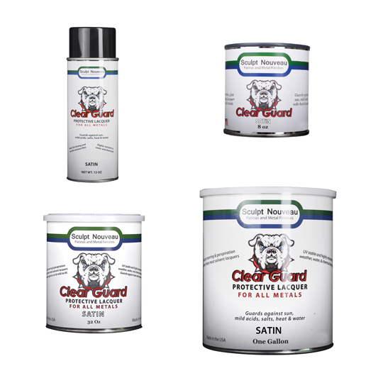 Clear Guard-SATIN Sealer, suitable for all metals, more suitable for interior use.