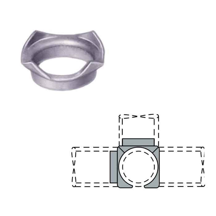 "Steel Coped Drive-on Side Outlet Tee Connectors for 1-1/4"" and 1-1/2"" Schedule 40 Pipe"