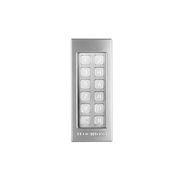 SlimStone Electronic Keypad, LED Lighting under Keys, Silver