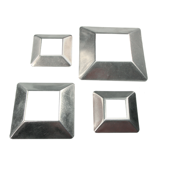"""Aluminum Cover Plates for 1-1/4"""" to 2-1/2"""" Square Bar"""