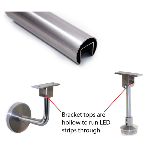 Slotted Handrail and Brackets