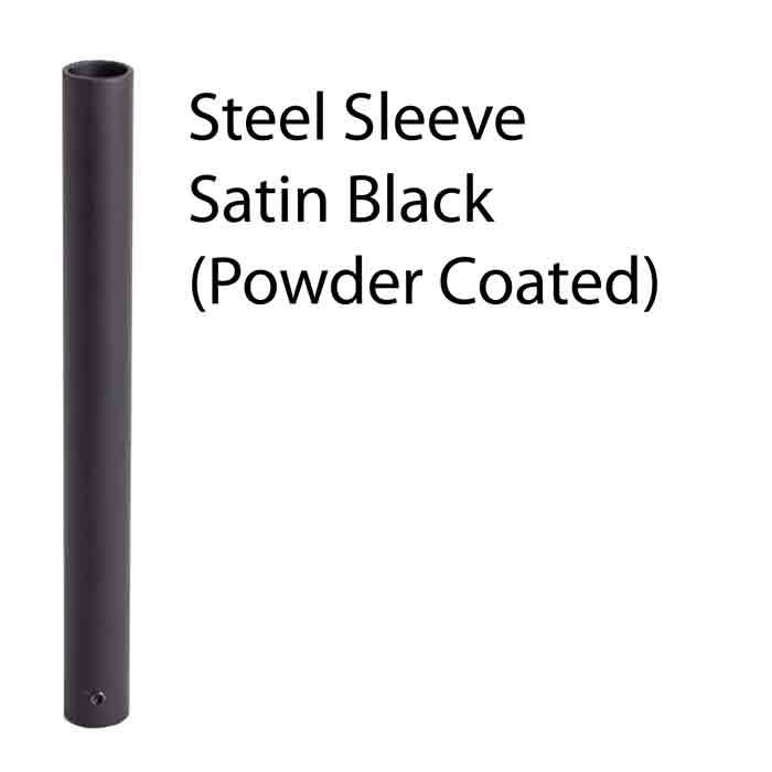 "20mm dia. Sleeve for Baluster, Steel, Satin Black Powder Coat, 8"" High"