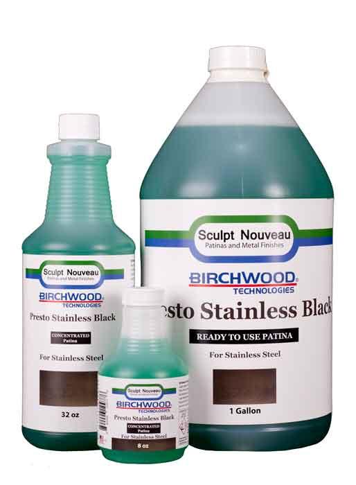 Birchwood Technologies Patina-Presto Black for Stainless Steel