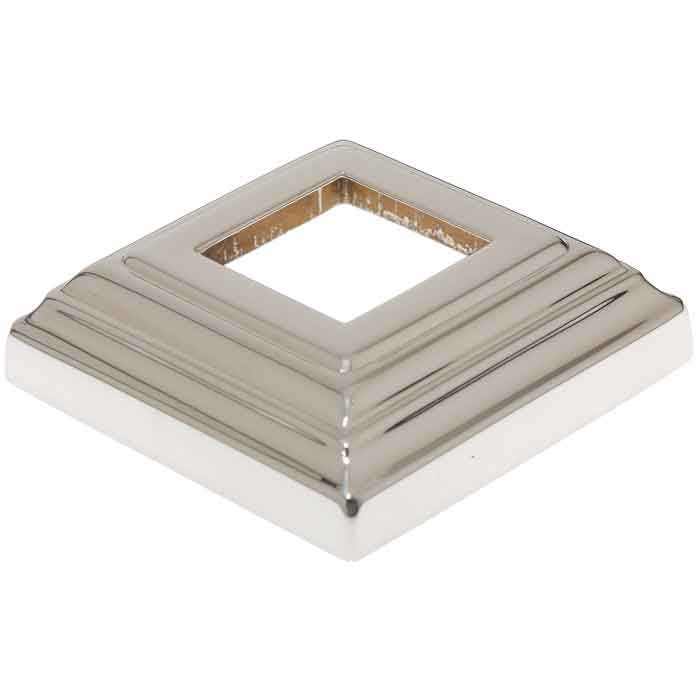 "Base Shoe for 1"" sq., Stainless Steel, Classic Series, 3-3/8"" sq. Base"