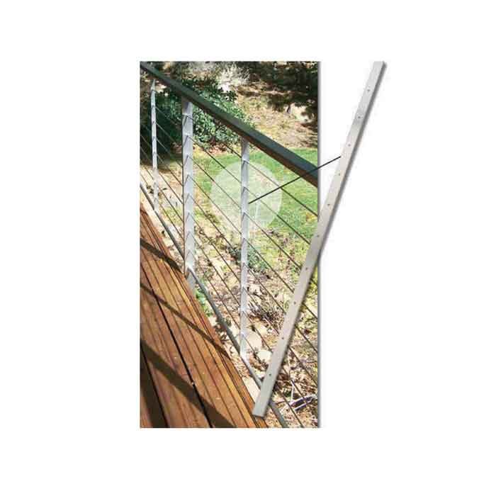 """1/4"""" x 1"""" 316 Stainless Steel Cable Brace, 36"""" Tall, 10 Holes"""