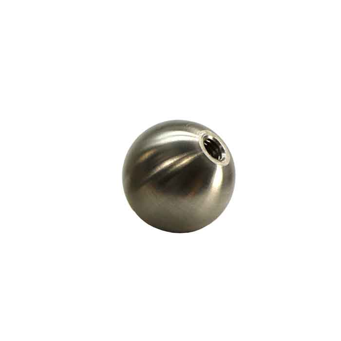 """2"""" dia. Hollow Ball, 304 Stainless Steel, M8 Threaded Hole"""