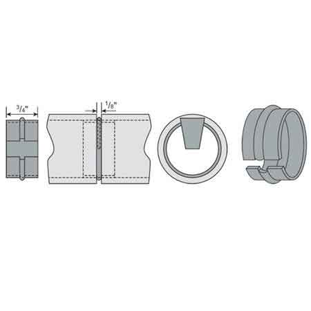 """Stainless Steel Wedge-Lock Connectors for 1-1/4"""" and 1-1/2"""" Schedule 40 Pipe"""