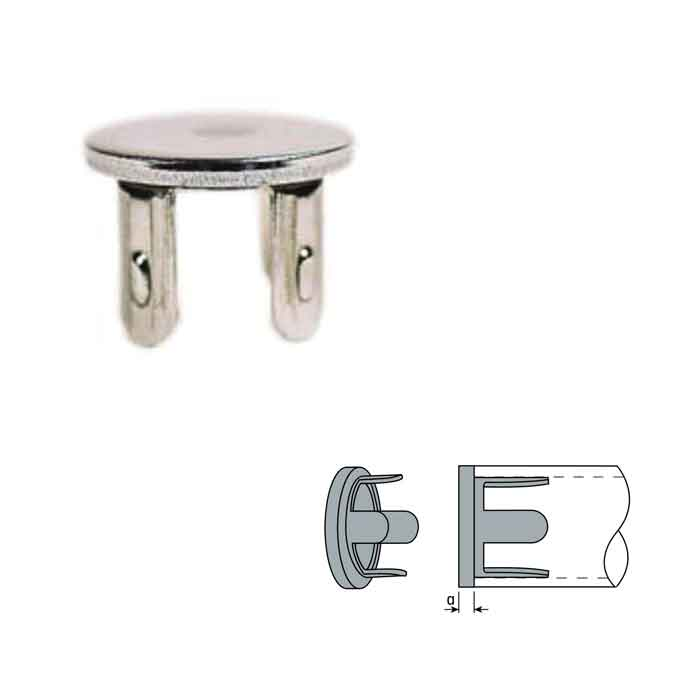 """Stainless Steel Drive-On Flat End Caps  for 1-1/4"""" and 1-1/2"""" Schedule 40 Pipe"""